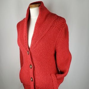 American Eagle Outfitters Orange Chunky Cardigan